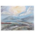 "Robert Riddle Acrylic Painting ""Winter Sun IV"""