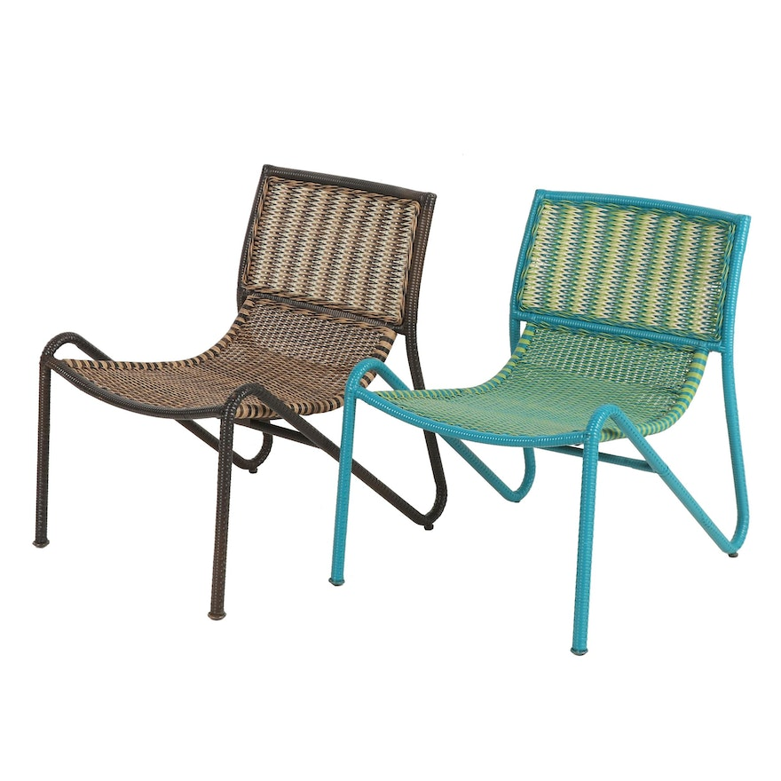 Astonishing Woven Vinyl Patio Chairs Home Interior And Landscaping Dextoversignezvosmurscom