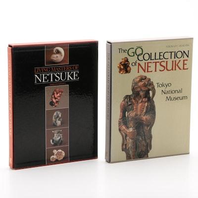 "Japanese Netsuke Books including ""Living Masters of Netsuke"" by Miriam Kinsey"
