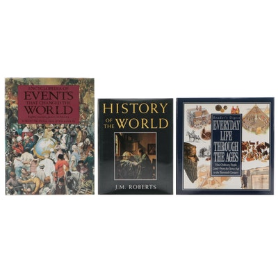 "History Books including 1993 ""History of the World"" by J.M. Roberts"