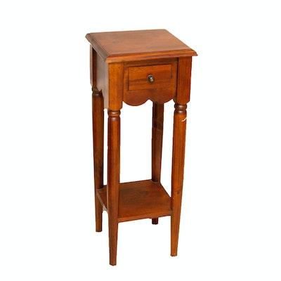 Colonial Style Oak Nightstand