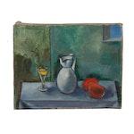 Edgar Yaeger 1956 Still Life Oil Painting