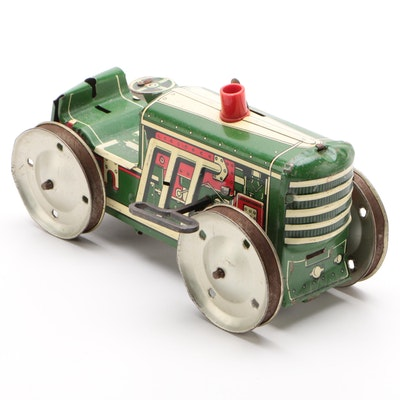 Marx Continuous Track Wind Up Tractor, Early to Mid 20th Century