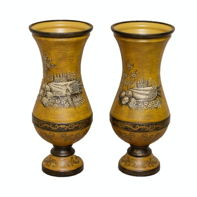 Hand-Painted John Richard Floor Vases