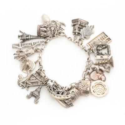 800 Silver Charm Bracelet