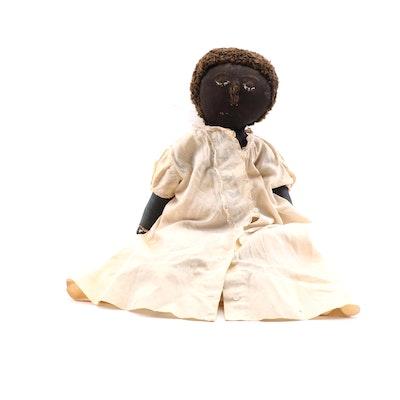 Handmade Fabric Doll, Vintage