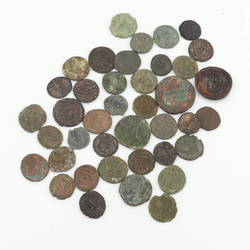 Forty Various Ancient Roman Coins