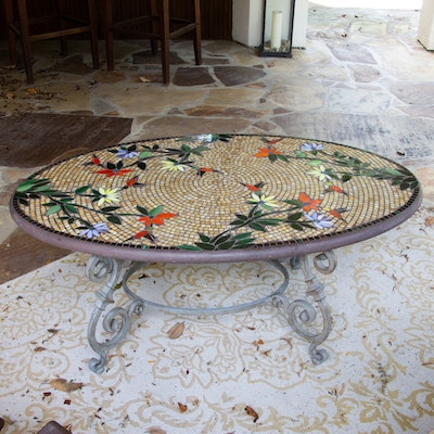 Frontgate Mosaic Patio Accent Table