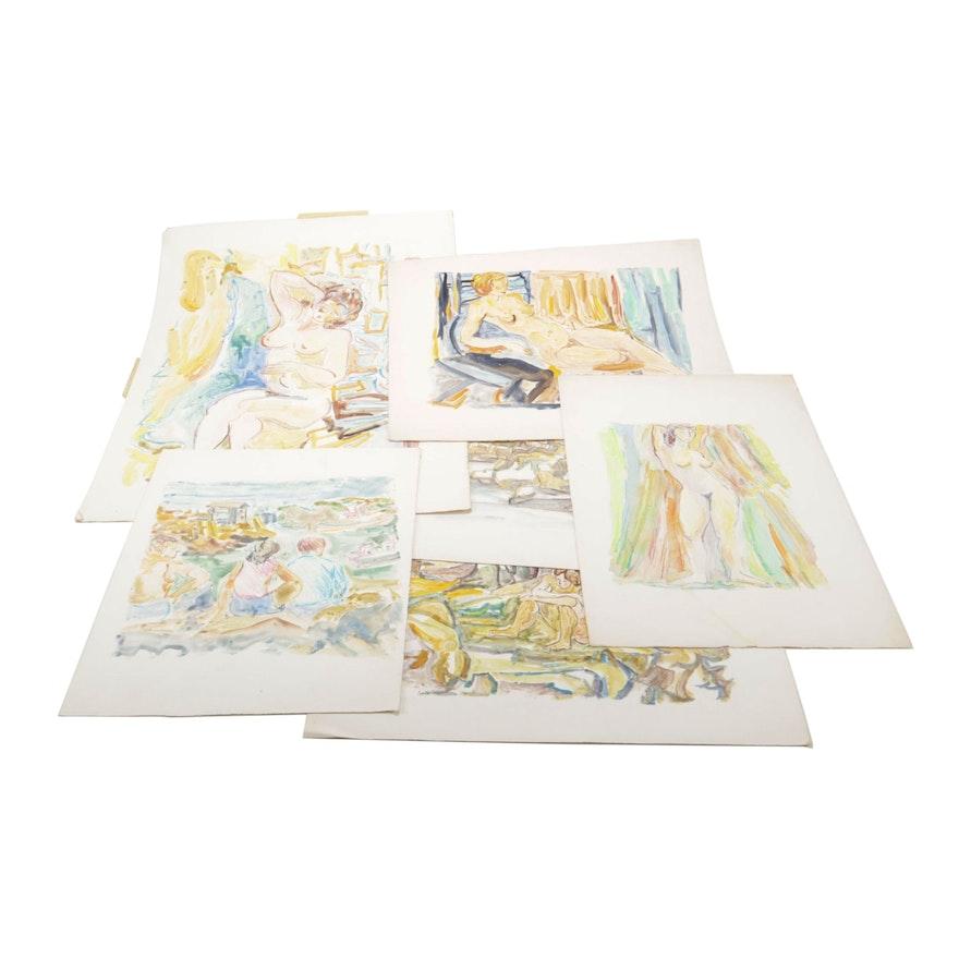 Yolanda Fusco Figure and Landscape Monoprints