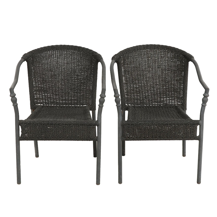 Super Woven Vinyl Patio Chairs Home Interior And Landscaping Dextoversignezvosmurscom