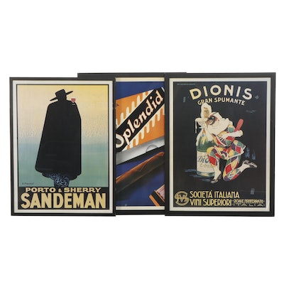 Reproductions of Vintage European Liquor Advertising Posters