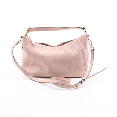 MICHAEL Michael Kors Pink Pebbled Leather Convertible Hobo Bag