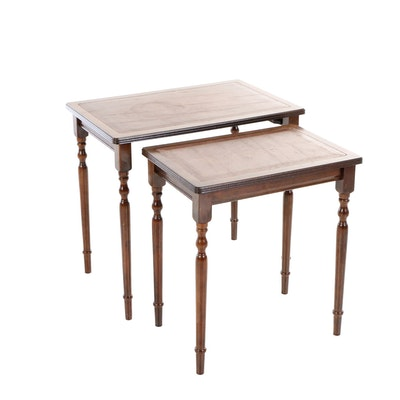 Two George III Style Mahogany-Stained Graduated Side Tables, 20th Century