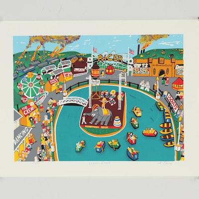 "Kathleen Ferri Serigraph ""Lagoon Stage"""
