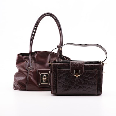 Francesco Biasia and B. Makowsky Pebble Grain and Embossed Leather Bags