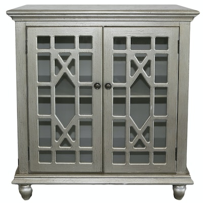 Contemporary Metallic Painted Wooden Cabinet