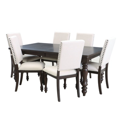 Calmart International Ltd. Upholstered Dining Chairs and Wooden Table