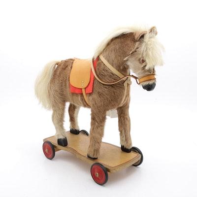 Horst Meier Pony Hide Horse Pull Toy