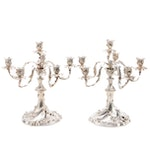 Mario Buccellati Baroque Style Sterling Silver Six-Light Candelabra