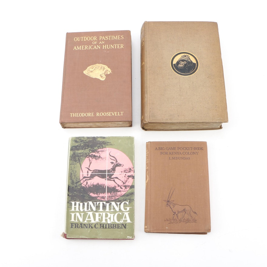 "First Edition ""The Wonderland of the Eastern Congo"" and More Hunting Books"