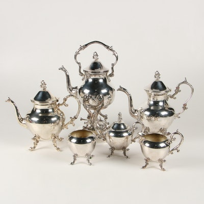 Birmingham Silver Co. Silver Plate Tea and Coffee Service