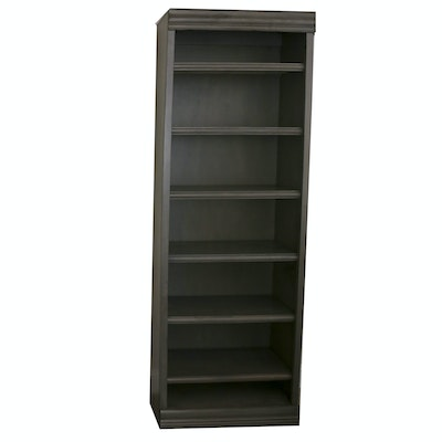 Wooden Bookcase with Distressed Painted Finish