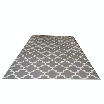 Moroccan-Style Trellis Pattern Nylon Area Rug