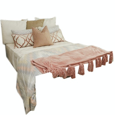 Full Size Bedding and Decorative Pillows