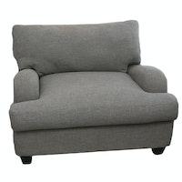 Oversized Contemporary Custom-Upholstered Armchair