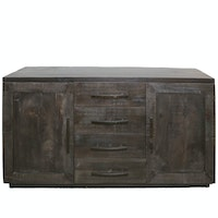 Contemporary Rustic Four-Drawer Buffet