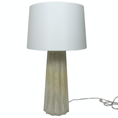 Contemporary Fluted Mercury Glass Table Lamp