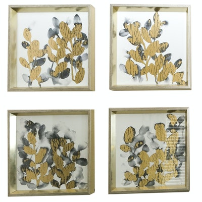 Decorative Metallic Floral Wall Hangings