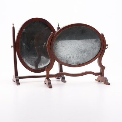 Cherry Dressing Table Mirrors, Early 19th Century