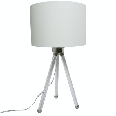 Contemporary Acrylic Tripod Table Lamp