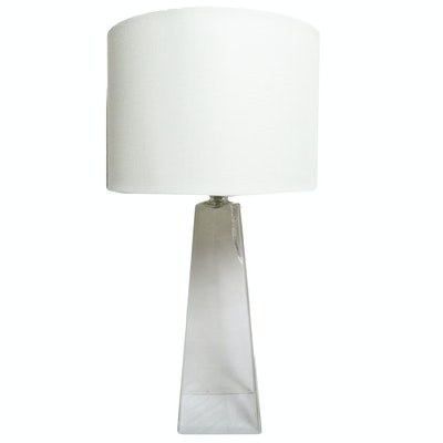 Pyramidal Glass Table Lamp, Contemporary