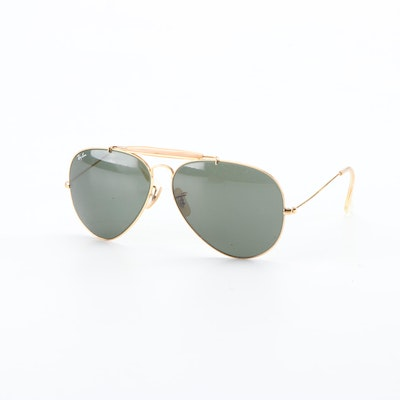 B&L Ray-Ban Outdoorsman ll Aviator Sunglasses with Case, Vintage