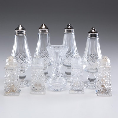 "Waterford Crystal ""Lismore"" Footed Salt and Pepper Shakers and More"