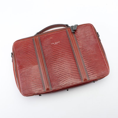 Ted Baker London Lizard Embossed Leather Briefcase