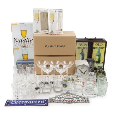 Assorted Stemware and Barware Featuring German Crystal