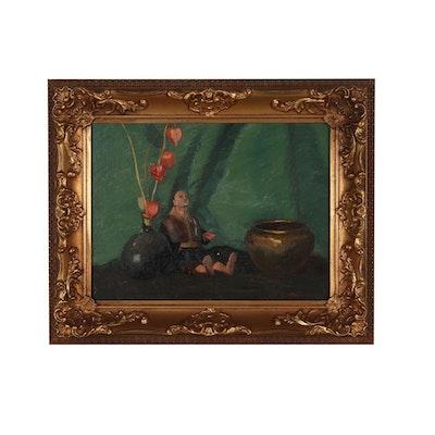 Edmond J. Fitzgerald Still Life Oil Painting
