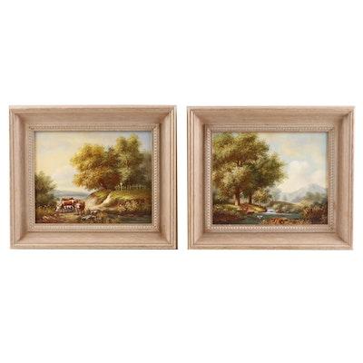 20th Century Pastoral Oil Paintings