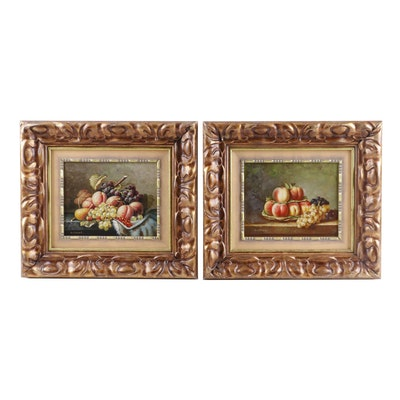 G. Clouet Still Life Oil Paintings