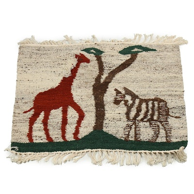 Handwoven African Style Accent Rug