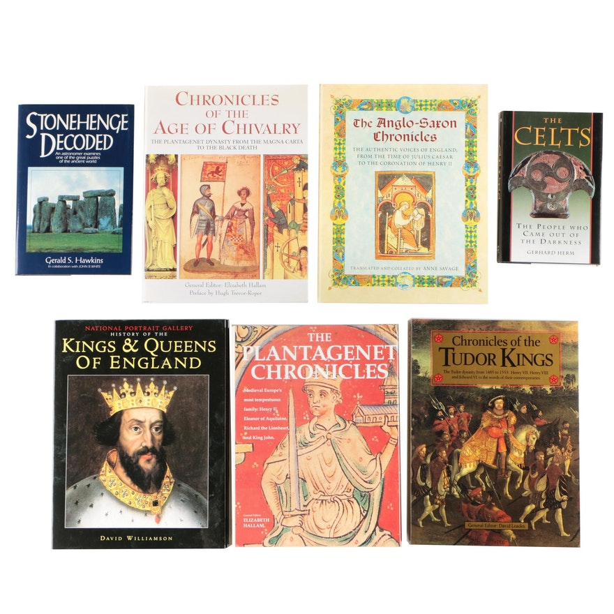 """English History Books including """"Chronicles of the Tudor Kings"""""""