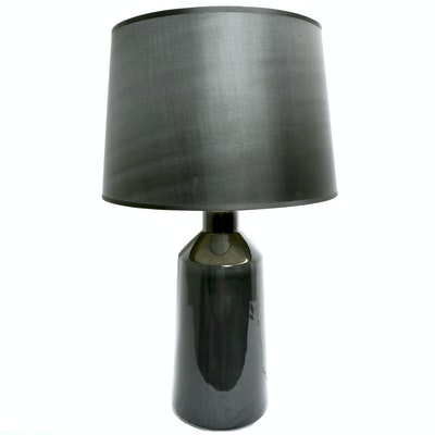 Contemporary Glass Lamp with Black Shade
