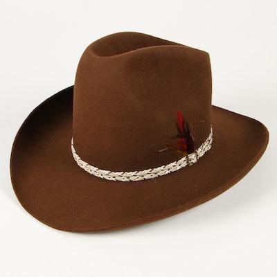 Stetson Brown 3X Beaver Fur Felt Western Hat