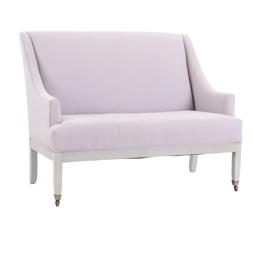 Incredible Ballard Designs Campbell Upholstered Settee Machost Co Dining Chair Design Ideas Machostcouk