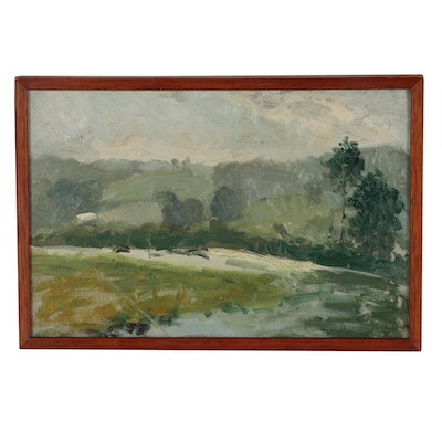 Robert Whitmore 1913 Landscape Oil Painting