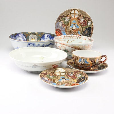Japanese Porcelain with Satsuma Earthenware