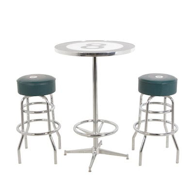 Eight Ball Themed Bar Table and Stools